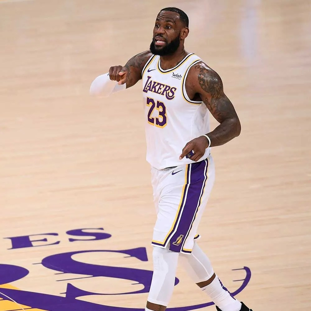 LeBron James, Los Angeles Lakers vs Golden State Warriors
