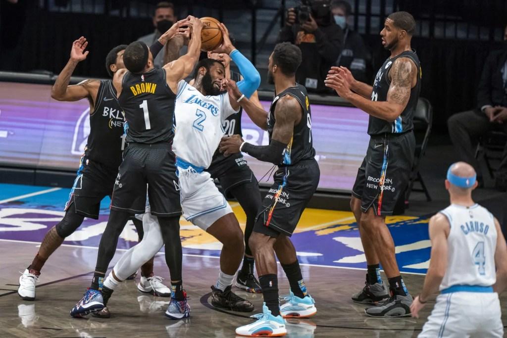 Andre Drummond; Los Angeles Lakers vs Brooklyn Nets
