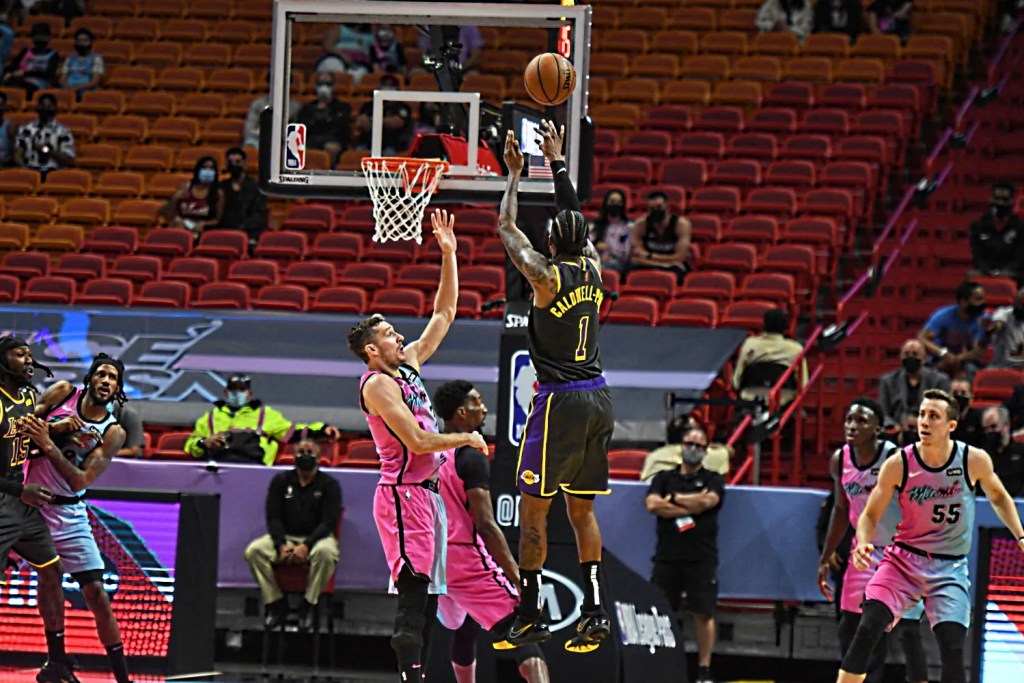 Kentavious Caldwell-Pope, Los Angeles Lakers vs Miami Heat
