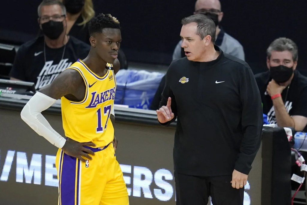 Frank Vogel and Dennis Schröder, Los Angeles Lakers vs Phoenix Suns