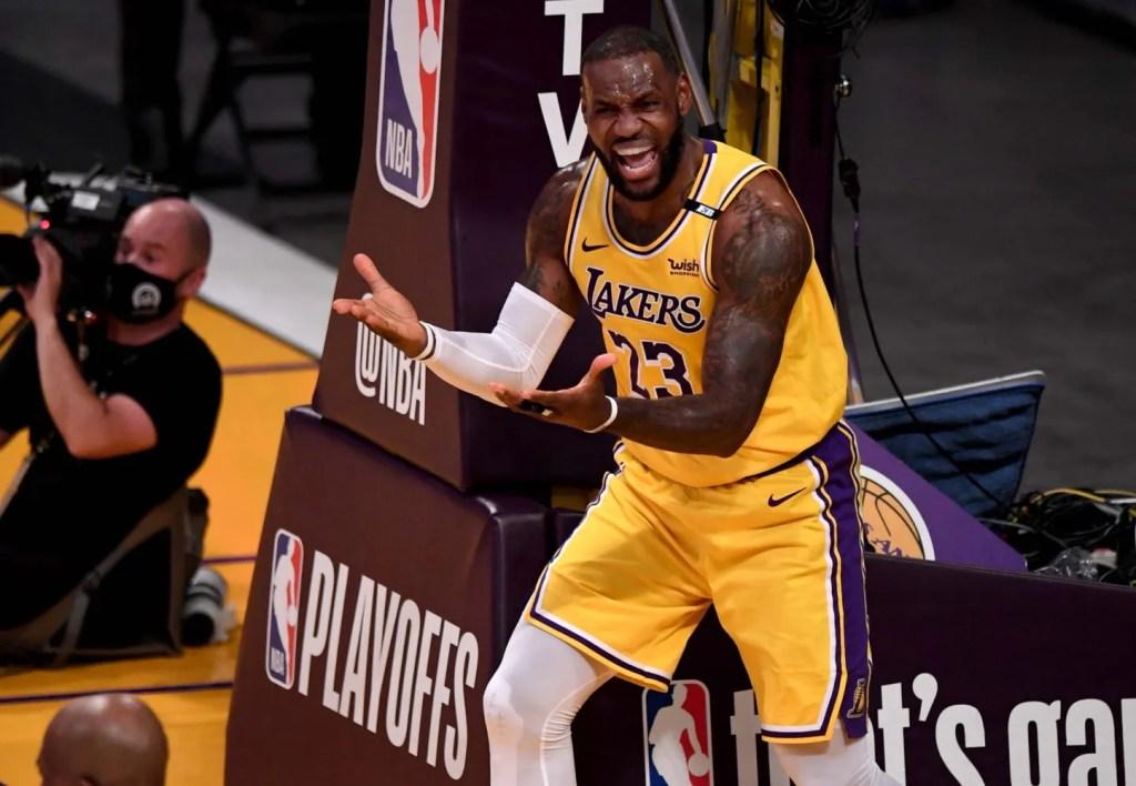 LeBron James, Los Angeles Lakers vs Phoenix Suns