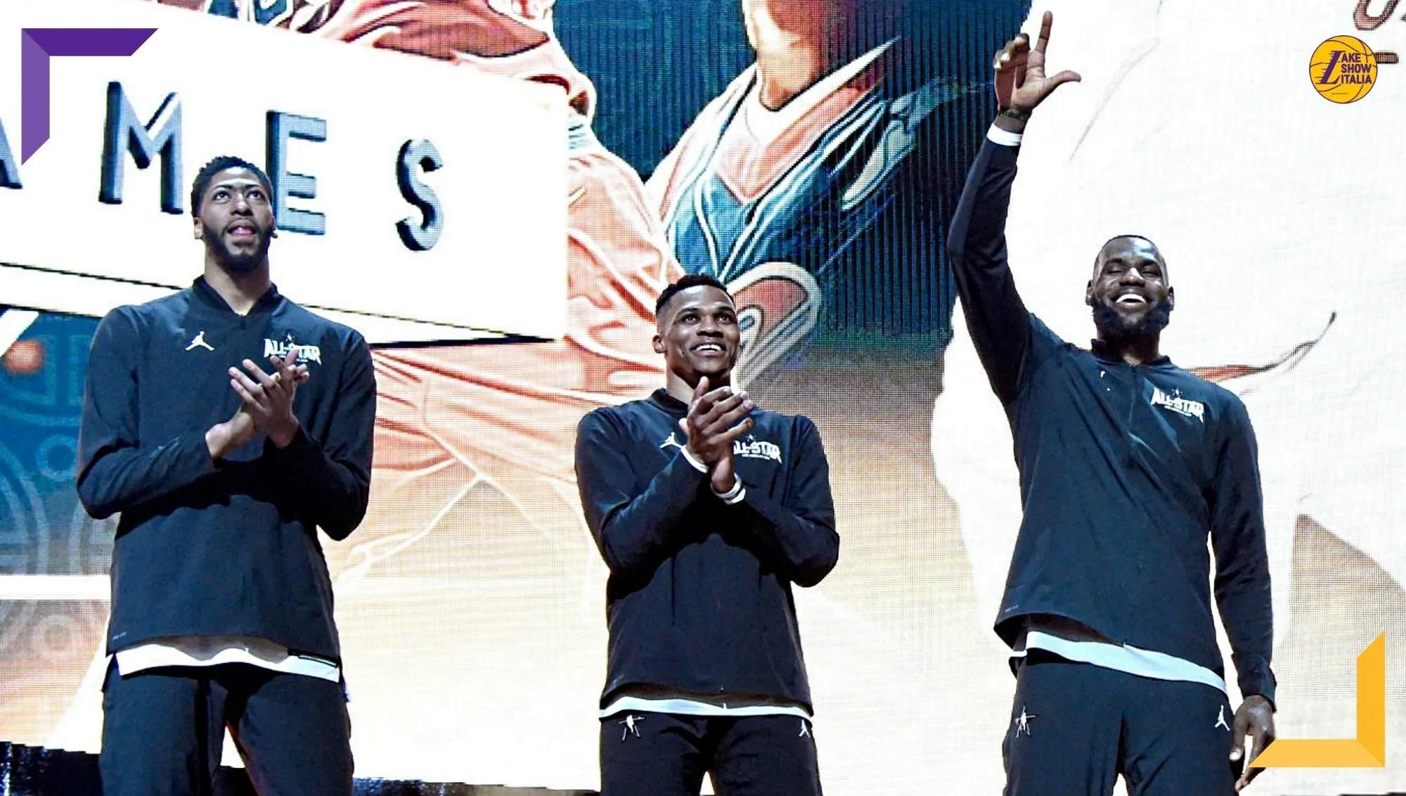 Russell Westbrook sarà la terza stella dei Los Angeles Lakers al fianco di LeBron James ed Anthony Davis. Agli Wizards Kuzma, Harrell e KCP.