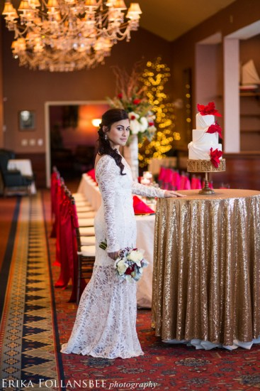 Red White & Gold Wedding Style