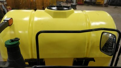 Lakestate Mfg showing the visibility from the tractor cab with a 600 gallon tank.