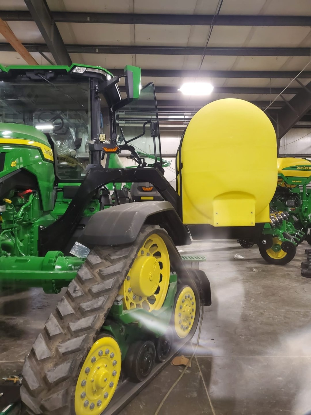 Lakestate Mfg. showing tanks designed to fit an 8RS tractor.
