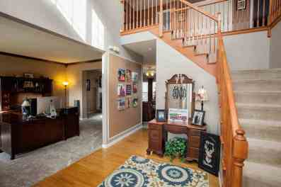 Formal 2 story entry foyer