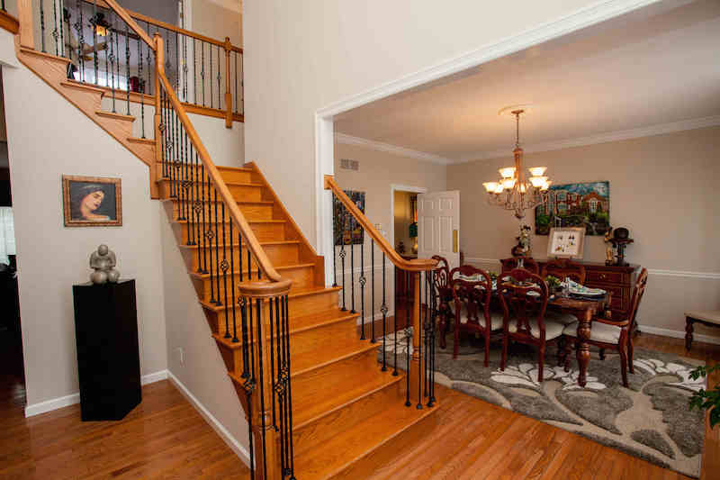 Gorgeous back & front wood staircase