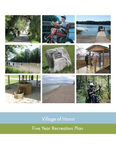 Village of Honor Five-Year Recreation Plan