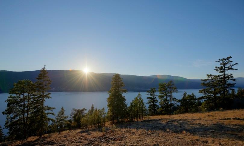 Beautiful Sunset Over Okanagan Lake