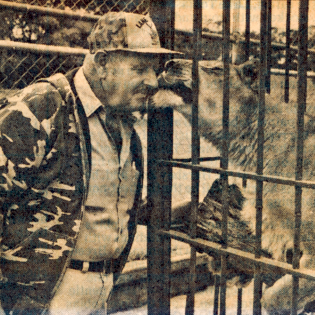 J.R. Tobias and his lioness
