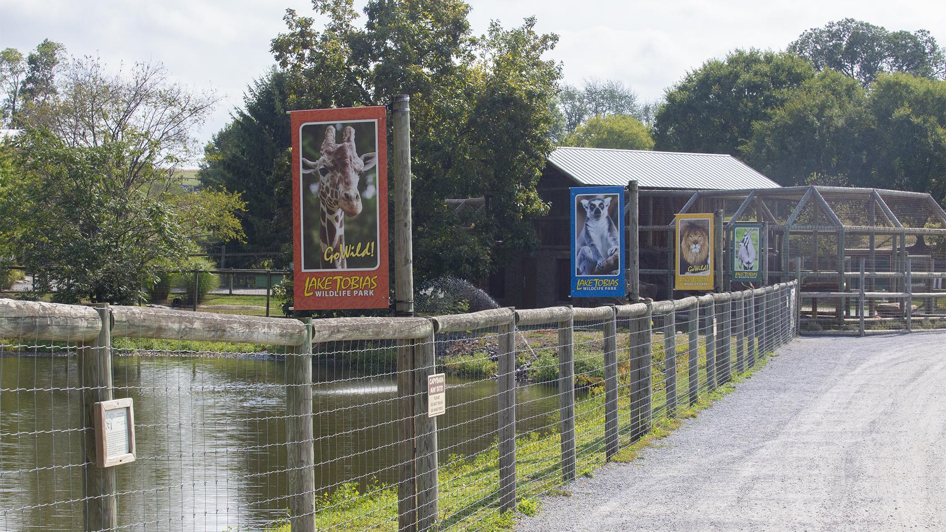 Zoo exhibits at Lake Tobias Wildlife Park