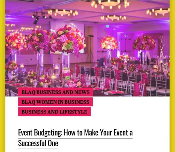 Event Budgeting