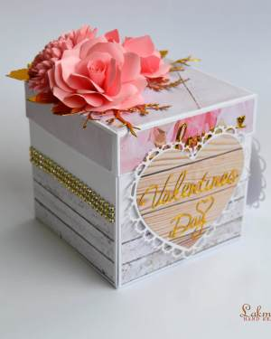 Valentines unique gift for her  | 3D explosion photo box