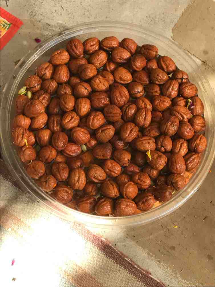 kalash puja walnuts