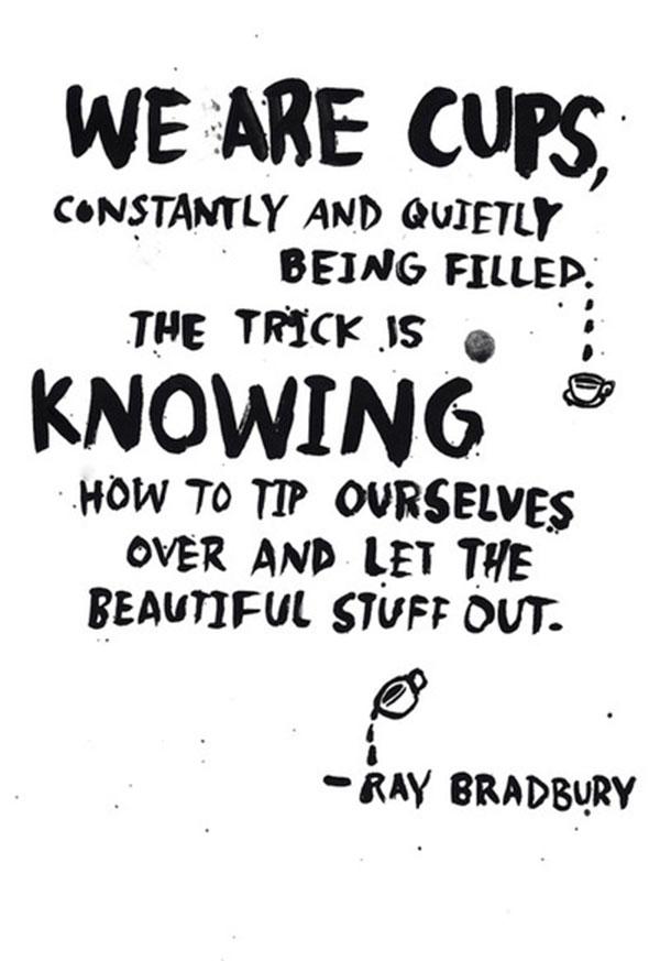 ray bradbury quote via la la lovely