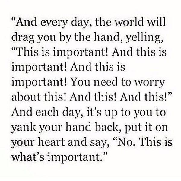 whats important