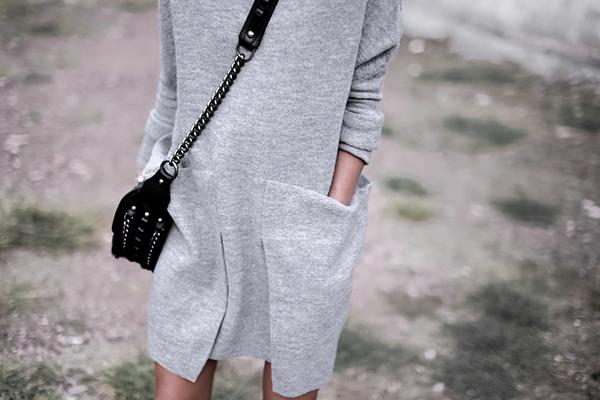 Cozy #dress with oversized pockets