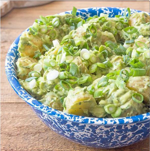 Healthy potato salad #recipe