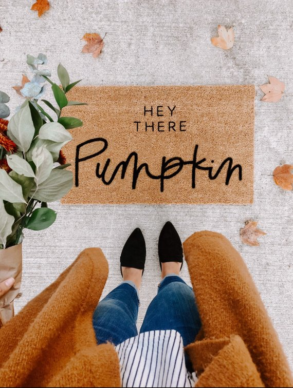 Hey There Pumpkin doormat