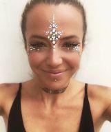 make carnaval com aplique de strass cristais festival 27