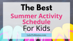 Summer Activity Schedule