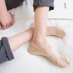 Lace Flower Short Sock Antiskid Invisible Ankle Socks