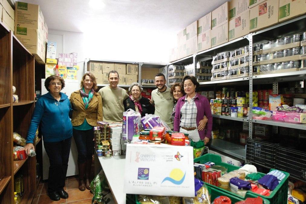 El parque natural de Serra Gelada entrega cerca de centenar de kilos de alimentos al Voluntariado Social de l'Alfàs del Pi
