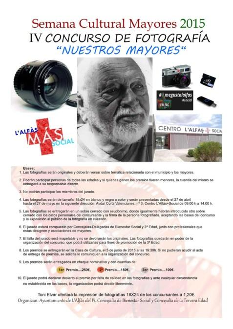 """La próxima semana concluye el plazo para participar en el IV concurso fotográfico """"Nuestros mayores"""""""