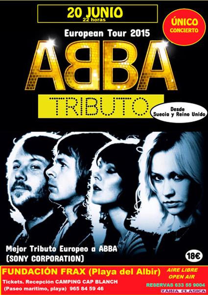 Concierto tributo a ABBA este sábado en la Fundación Frax