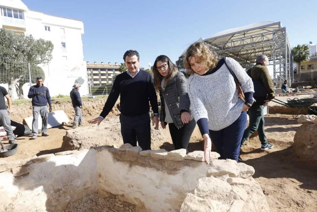 Restos malacológicos en el yacimiento de la Villa Romana