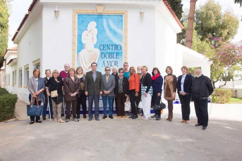Las asociaciones de residentes europeos de l'Alfàs se interesan por el Centro Doble Amor