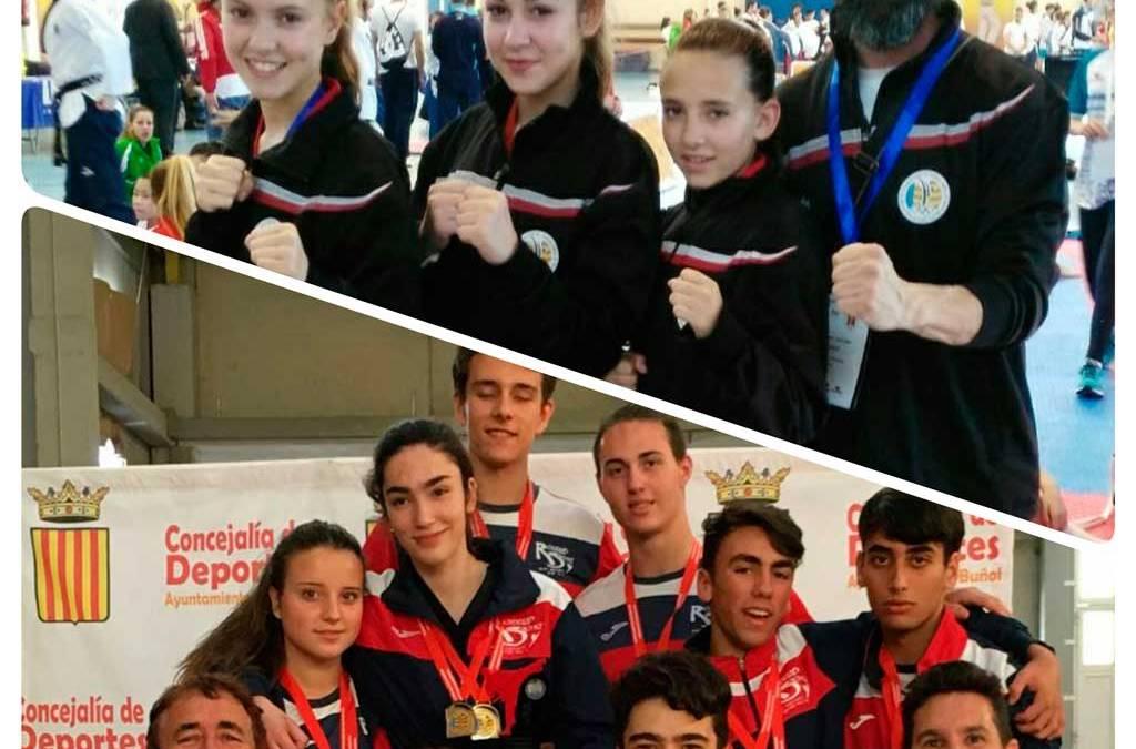 Dos Oros y una plata  para María Vidal, y oro para el Taekwondo de l'Alfàs del Pi que repite como mejor equipo de la Comunidad Valenciana