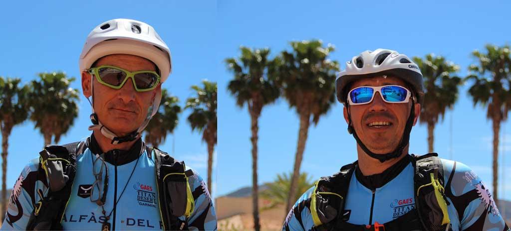 Los Ciclistas de l'Alfàs del Pi que toman parte en la Titan Desert ya han superado dos etapas.