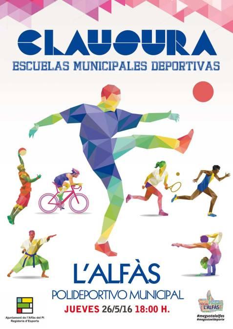 Este  Jueves la Concejalía de Deportes clausura las Escuelas Municipales Deportivas 2016.