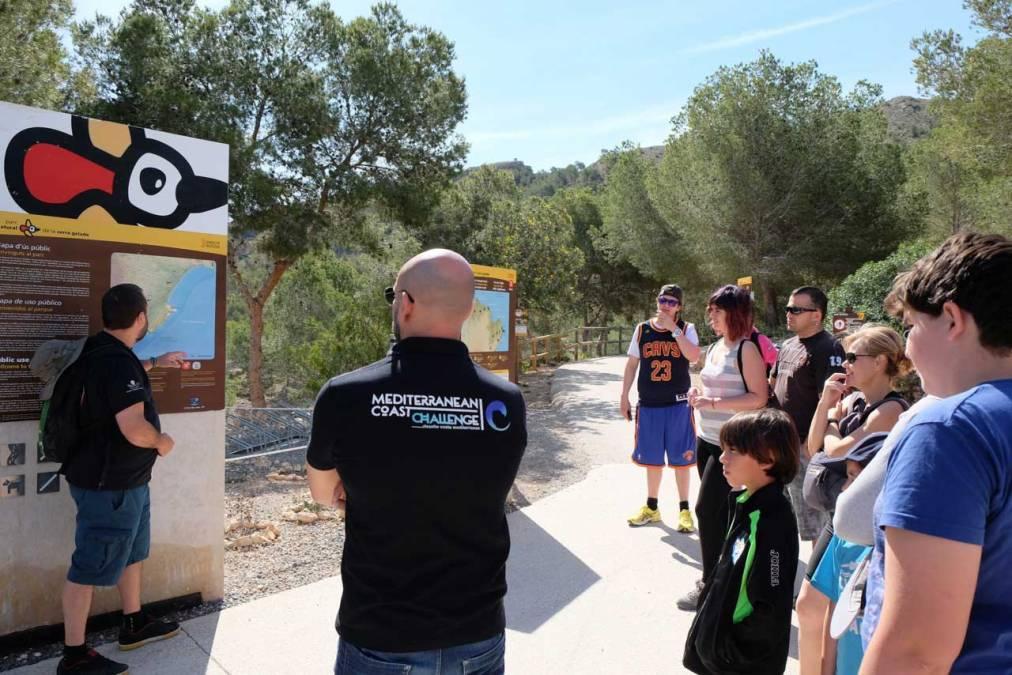 Los nadadores de la Mediterranean Coast Challenge visitan el Parc Natural de la Serra Gelada
