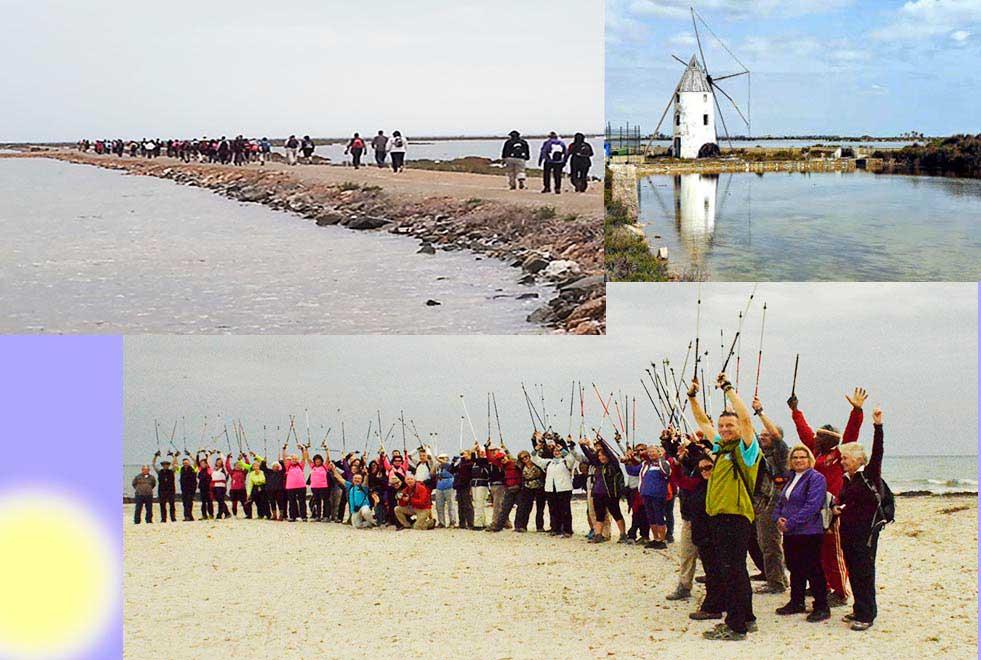 El paraje de Las Encañizadas en La Manga del mar menor será el destino de  caminata organizada por la FENWA  el domingo 22 May