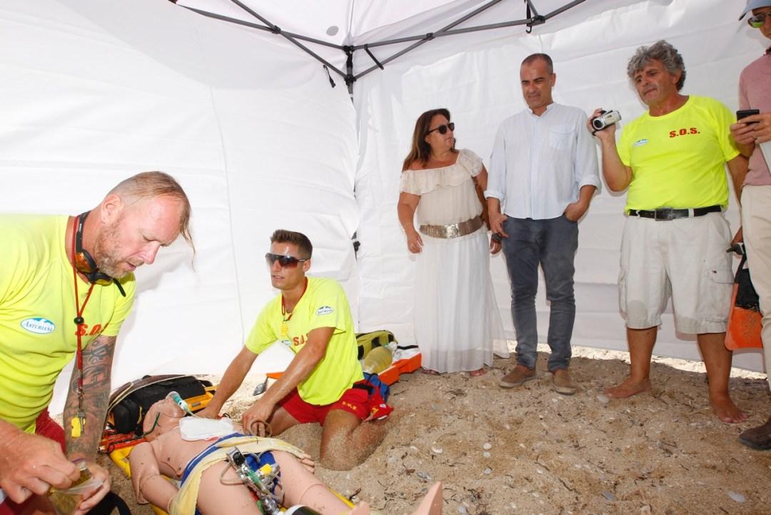 Los ediles de playas y sanidad siguieron la evolución del simulacro
