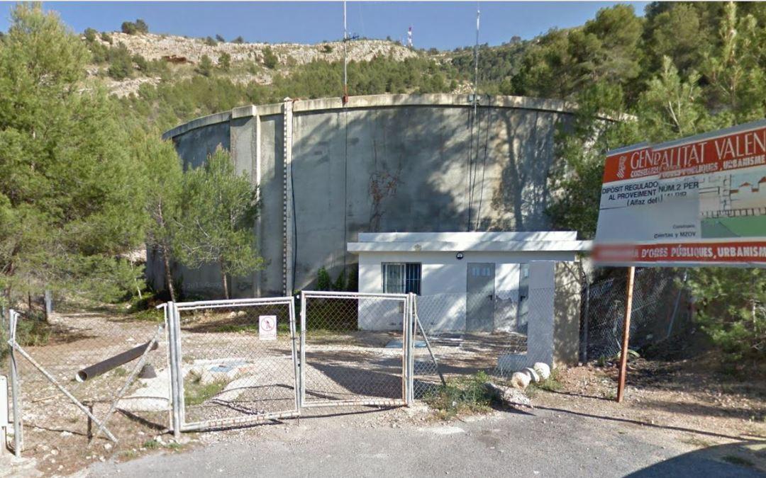L'Alfàs del Pi recibe una subvención de la Diputación para la mejora de sus depósitos de agua potable