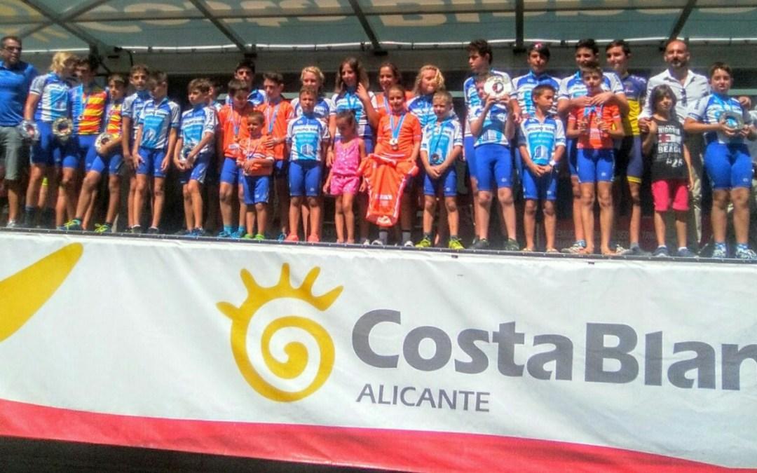 La escuela de ciclismo de l'Alfàs del Pí primera de la provincia por cuarto año consecutivo.