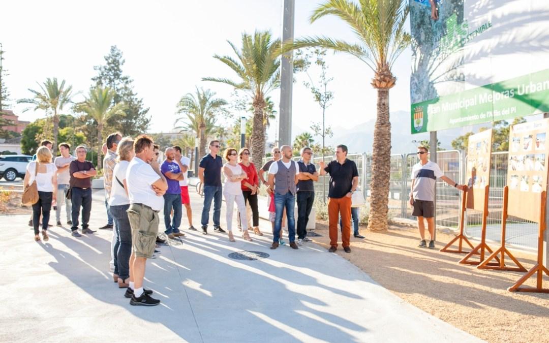 Las infraestructuras deportivas de l'Alfàs quedan conectadas a través de un paseo peatonal y accesible