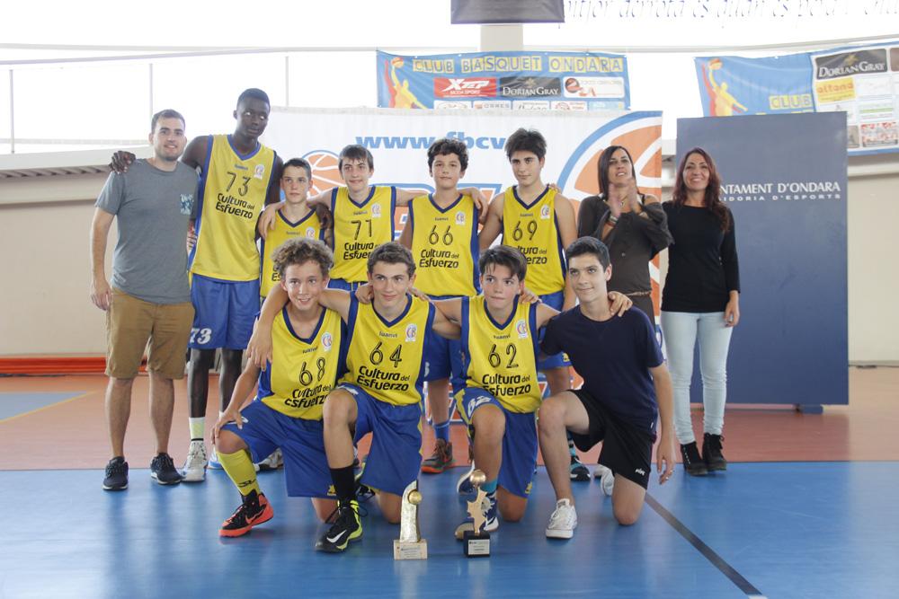 El equipo infantil del CB Terralfàs  se ha proclamado campeón provincial en las finales de la liga Valenciana 2016