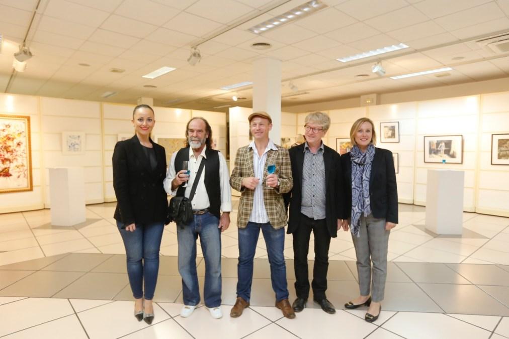 Las XIV Jornadas Hispano-Noruegas arrancan con una exposición de pinturas a cargo de Eloy García y Roar Kjernstad