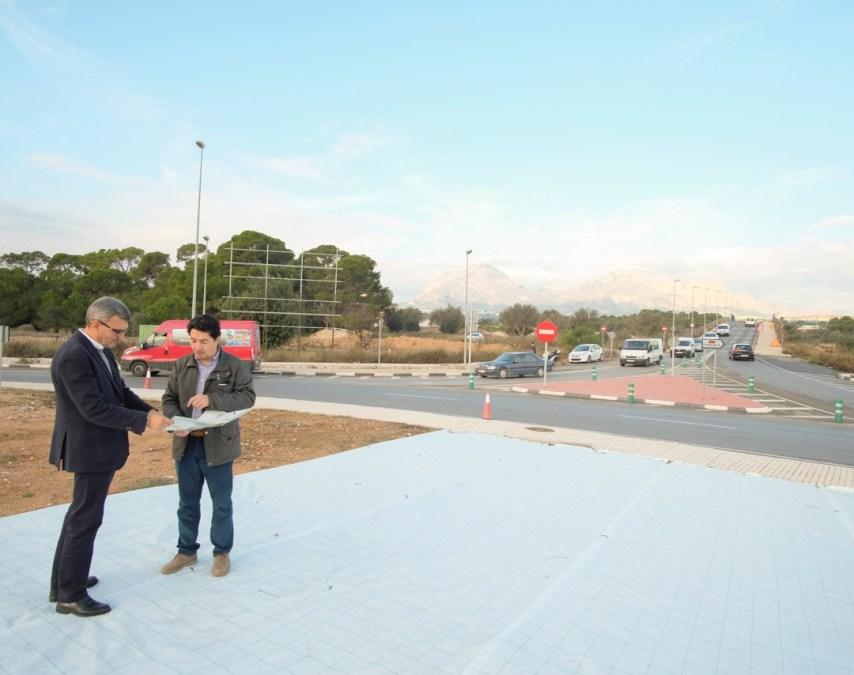 El acceso a l'Alfàs del Pi desde la N-332 lucirá en breve nueva imagen
