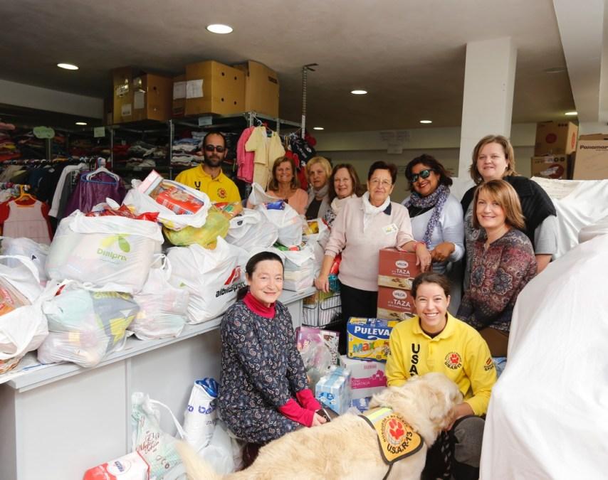 U.S.A.R-13 dona más de 700 kilos de alimentos al Voluntariado Social de l'Alfàs