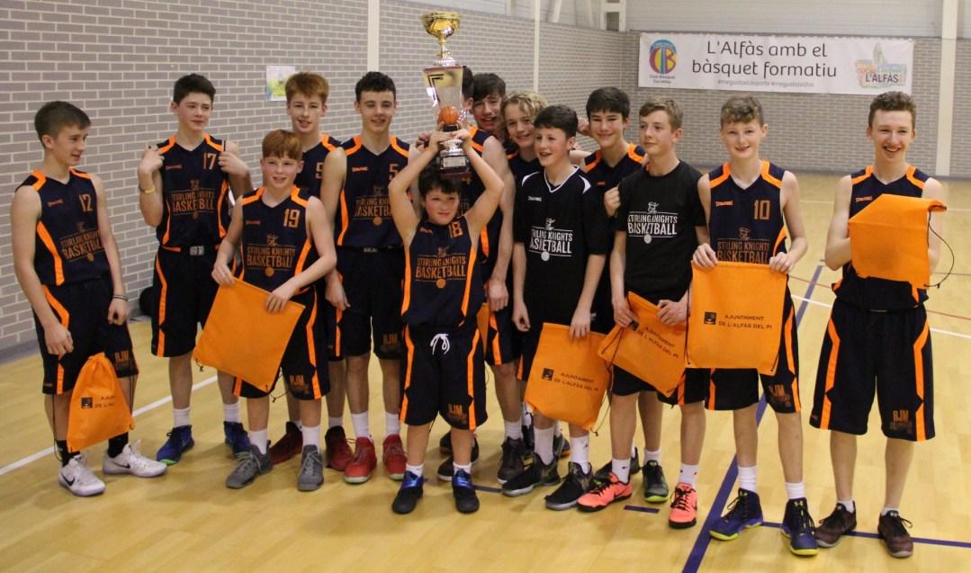 El Stirling Knights de Escocia  se proclama campeón del torneo de categoría infantil que se ha celebrado en el pabellón Pau Gasol.