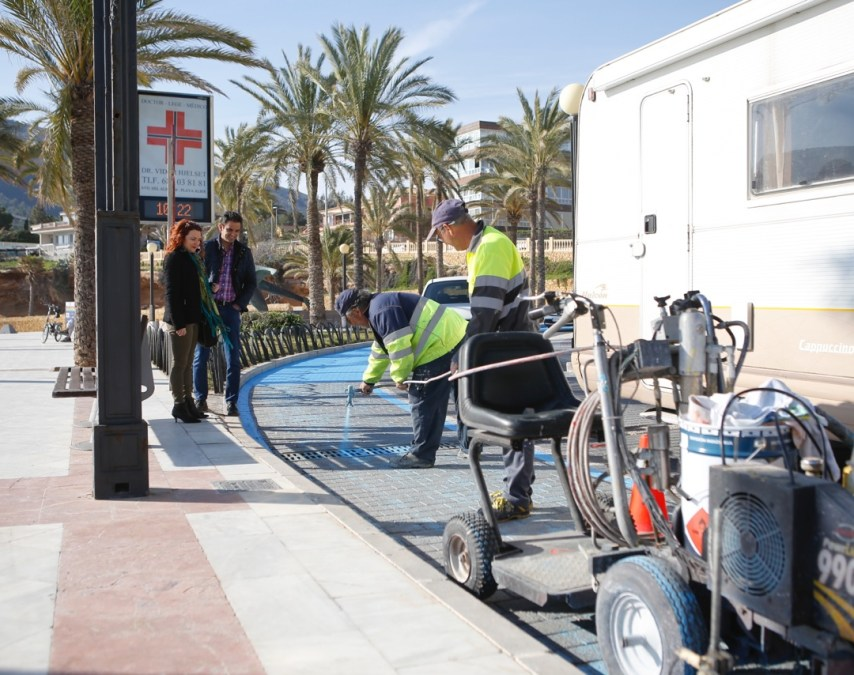 El Ayuntamiento de l'Alfàs ultima los arreglos de la playa de l'Albir tras los daños del último temporal