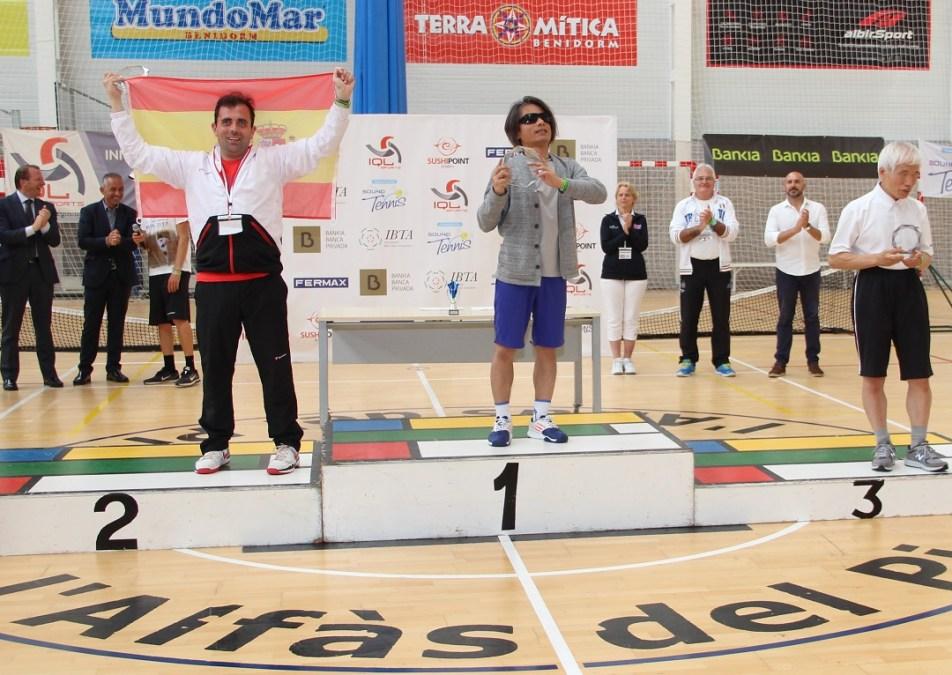 L'Alfàs del Pi albergó el primer torneo internacional de Blind Tenis o  Tenis para personas ciegas y con discapacidad visual