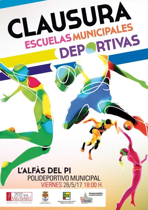El 26 de mayo se clausura la temporada de escuelas deportivas municipales