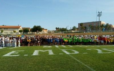 Un millar de jóvenes deportistas se concentran en el polideportivo de L'Alfàs
