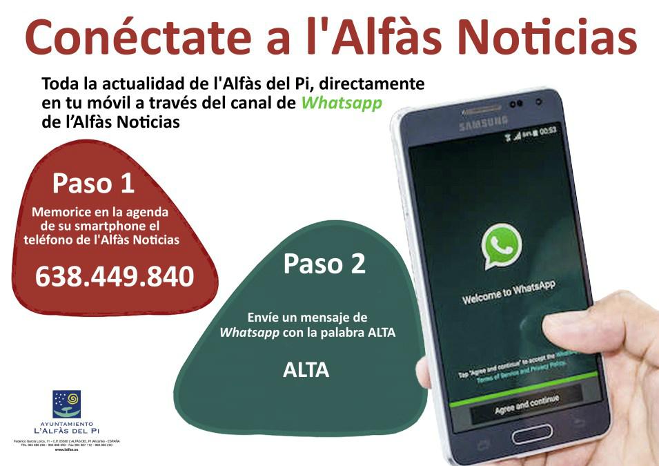 Toda la actualidad de l'Alfàs del Pi, directamente en tu móvil: Conéctate a l'Alfàs Noticias
